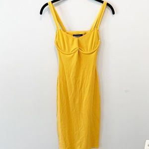 Reformation Jayne Midi Underwire Bodic Dress
